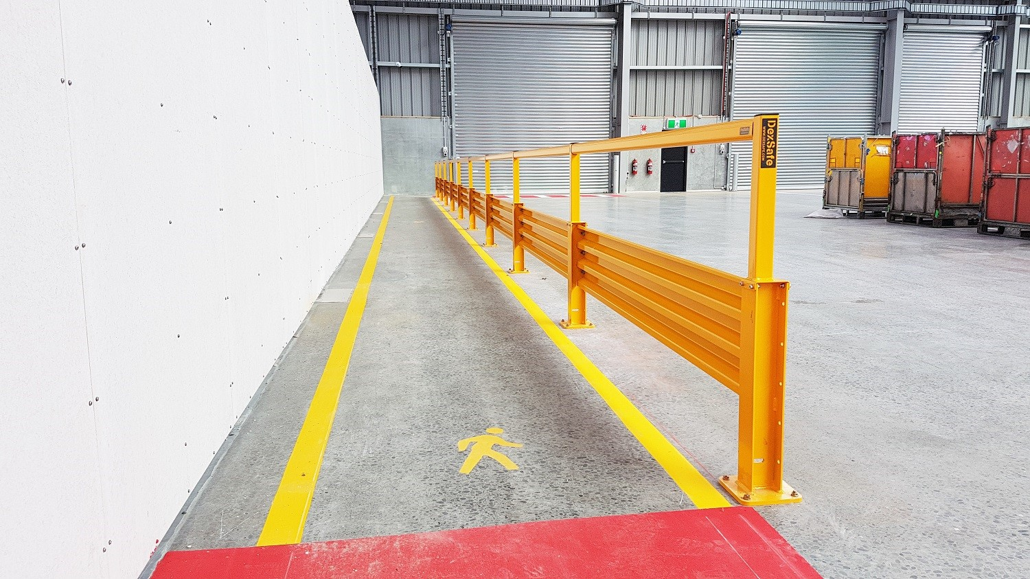 Barriers and line markings create a safe workplace